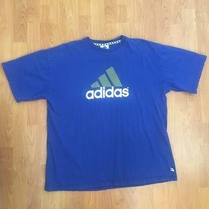 Vtg Adidas Men's Big Logo Blue T-Shirt XL